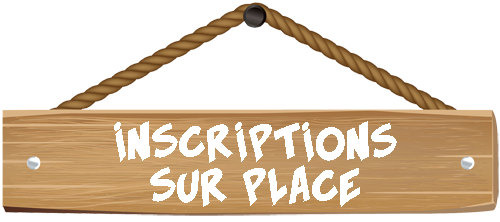 Inscriptions sur place